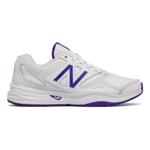 Womens New Balance 824v1 Cross Training Shoe - White/Violet 9.5