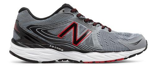 Mens New Balance 680v4 Running Shoe - Steel/Black 10.5