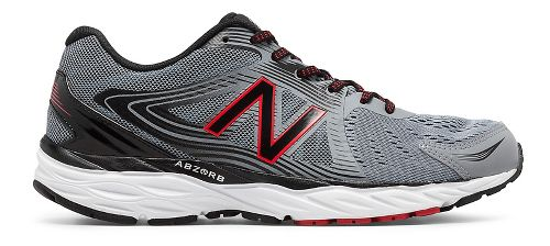 Mens New Balance 680v4 Running Shoe - Steel/Black 11