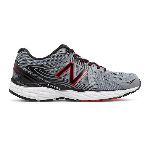 Mens New Balance 680v4 Running Shoe - Steel/Black 7.5