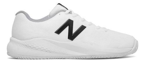 Womens New Balance 996v3 Court Shoe - White/Black 6.5
