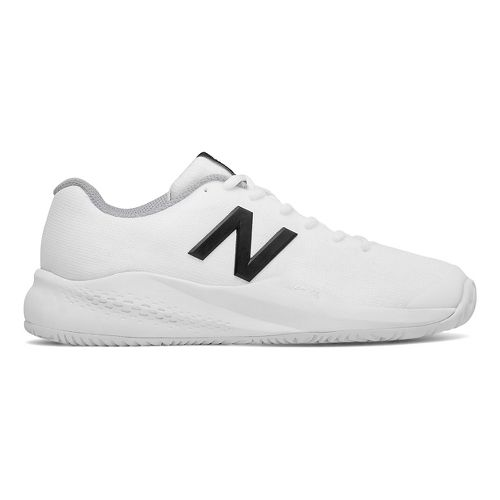 Womens New Balance 996v3 Court Shoe - White/Black 10.5