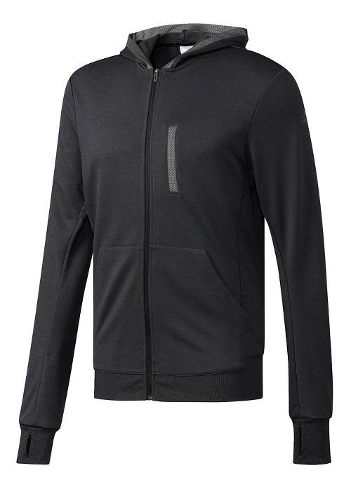 Mens Adidas Beyond The Run Half-Zips & Hoodies Technical Tops - Black M