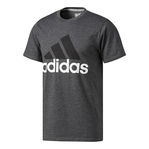 Mens Adidas Badge Of Sport Classic Tee Short Sleeve Technical Tops - White S