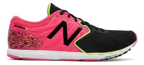 Womens New Balance Hanzo S Racing Shoe - Pink/Black 8