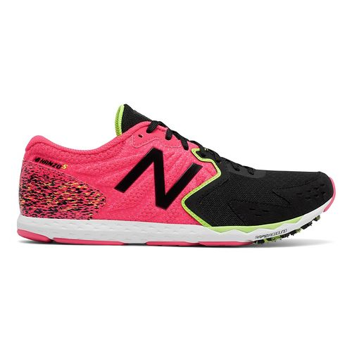 Womens New Balance Hanzo S Racing Shoe - Pink/Black 9.5