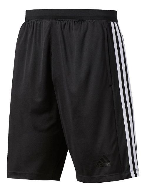 Mens Adidas Designed-2-Move 3-Stripes Unlined Shorts - Black/White XL