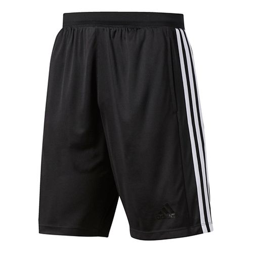 Mens Adidas Designed-2-Move 3-Stripes Unlined Shorts - Black/White XL