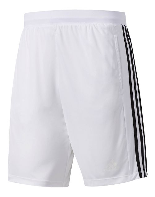 Mens Adidas Designed-2-Move 3-Stripes Unlined Shorts - White L