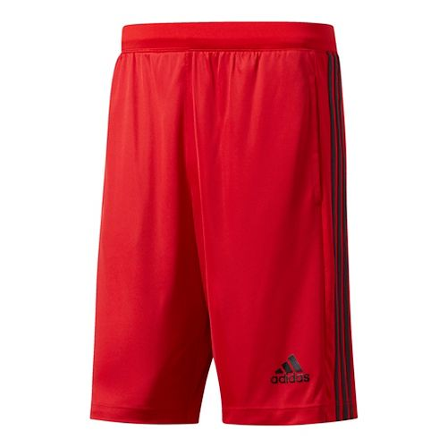 Mens Adidas Designed-2-Move 3-Stripes Unlined Shorts - Black/Scarlet XXL