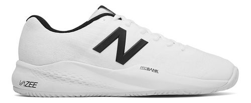 Mens New Balance 996v3 Court Shoe - White/Black 8.5