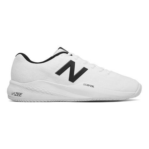 Mens New Balance 996v3 Court Shoe - White/Black 12.5