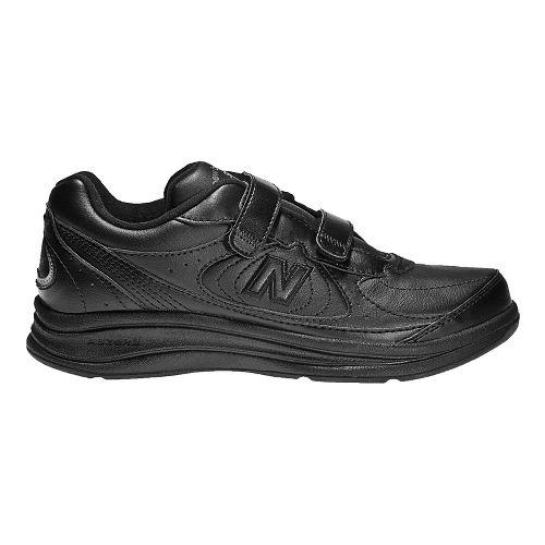 Womens New Balance 577v1 Hook and Loop Walking Shoe - Black 6.5