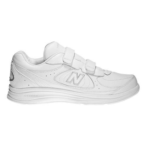 Womens New Balance 577v1 Hook and Loop Walking Shoe - White 7.5