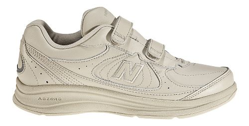 Womens New Balance 577v1 Hook and Loop Walking Shoe - Bone 8.5