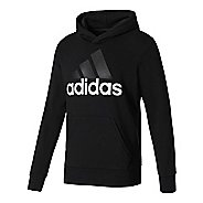 Mens Adidas Essential Linear French Terry Half-Zips & Hoodies Technical Tops