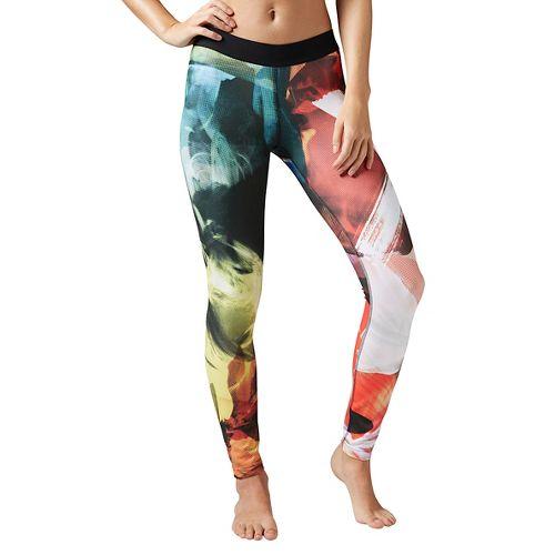Womens Reebok Acid Fade Tights & Leggings Pants - Carotene M
