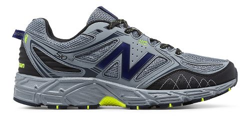 Mens New Balance T510v3 Trail Running Shoe - Grey/Yellow 10.5