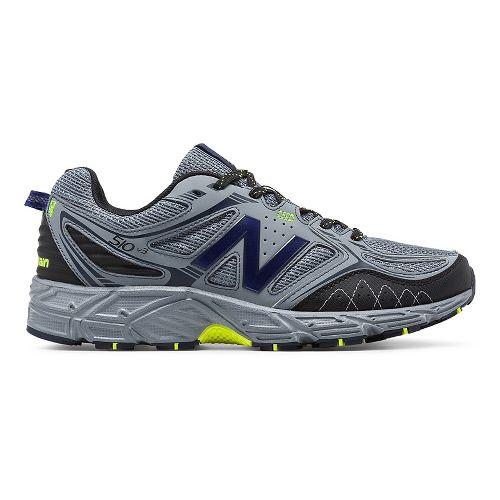 Mens New Balance T510v3 Trail Running Shoe - Grey/Yellow 10.5