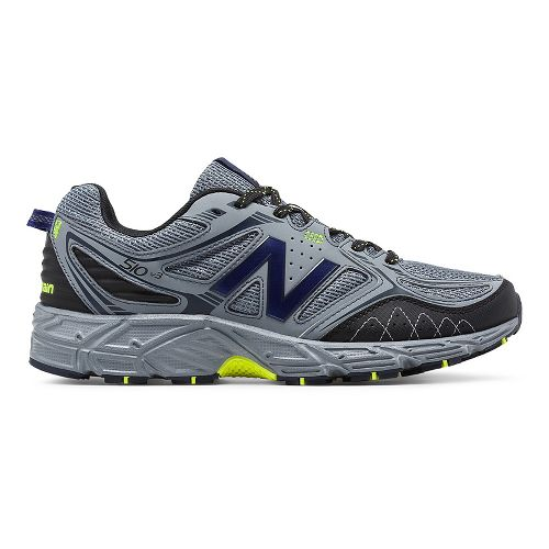 Mens New Balance T510v3 Trail Running Shoe - Grey/Yellow 9.5