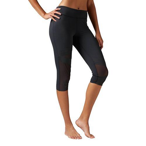 Womens Reebok Cardio Capri Tights & Leggings Pants - Black XL