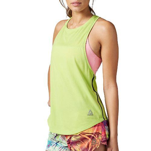 Womens Reebok Quik Cotton Muscle Sleeveless & Tank Tops Technical Tops - Kiwi Green L ...