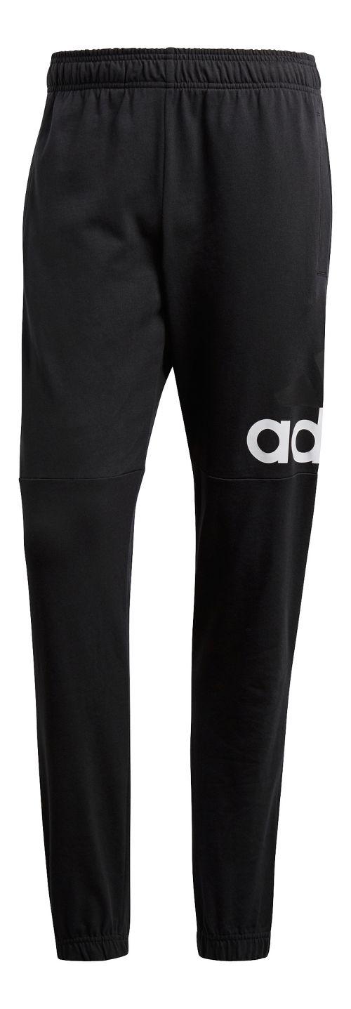 Mens Adidas Essential Performance Logo Pants - Black/White S