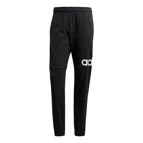 Mens Adidas Essential Performance Logo Pants - Black/White L