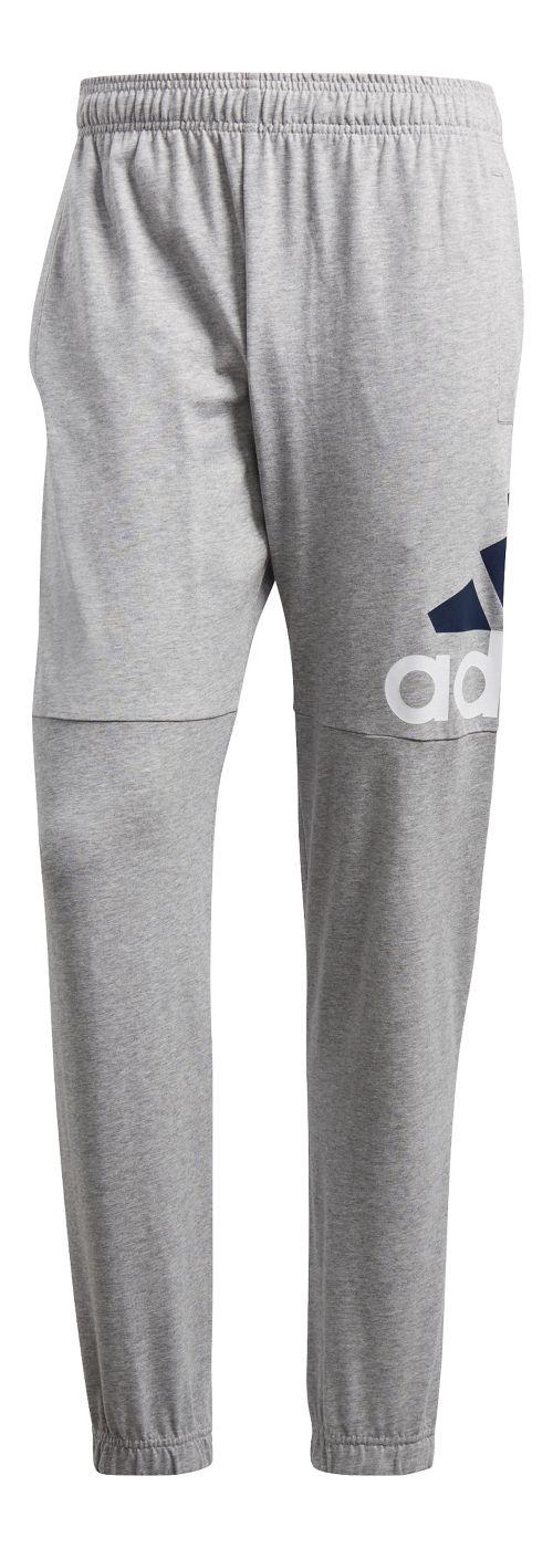 Mens Adidas Essential Performance Logo Pants - Grey/White/Black L