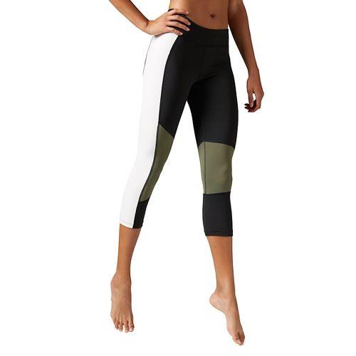 Womens Reebok Dance Colorblock Capri Tights & Leggings Pants - Black M