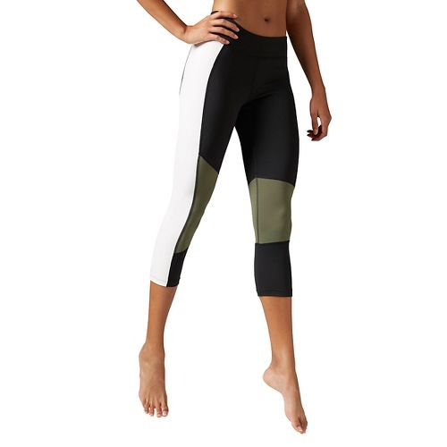 Womens Reebok Dance Colorblock Capri Tights & Leggings Pants - Black XS