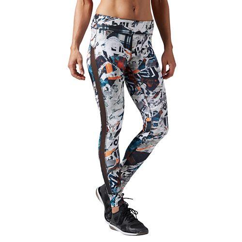 Womens Reebok Dance Garden Rebel Tights & Leggings Pants - Black M