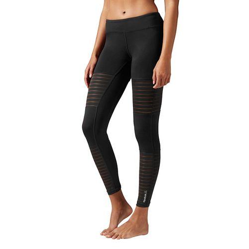 Womens Reebok Dance Mesh Tights & Leggings Pants - Black XXS