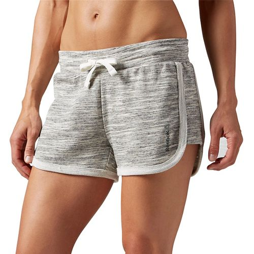 Womens Reebok Elements Melange Unlined Shorts - Chalk XS