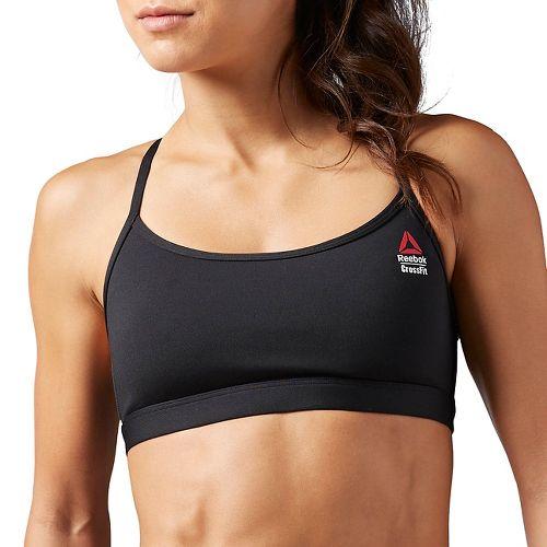 Womens Reebok CrossFit Front Rack Sports Bras - Black M
