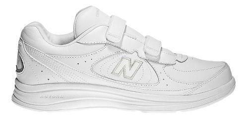Mens New Balance 577v1 Hook And Loop Walking Shoe - White 10.5
