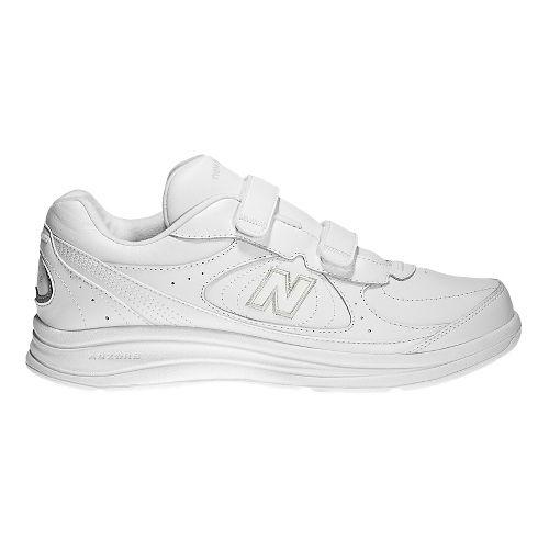 Mens New Balance 577v1 Hook And Loop Walking Shoe - White 7.5