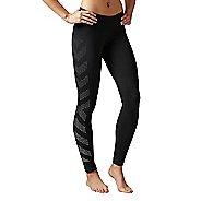 Womens Reebok Quik Cotton Burnout Tights & Leggings Pants