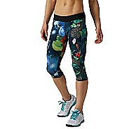 Womens Reebok CrossFit Reversible Hidden Jungle Chase Capri Tights & Leggings Pants