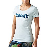 Womens Reebok CrossFit Forging Elite Fitness Tee Short Sleeve Non-Technical Tops