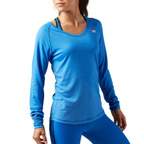 Womens Reebok CrossFit Graphic Burnout Sleeveless & Tank Tops Technical Tops - Echo Blue S