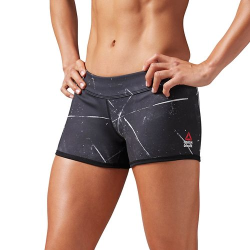 Womens Reebok CrossFit Reversible Chalk Chase Bootie Unlined Shorts - Black S