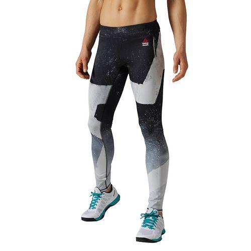 Womens Reebok CrossFit Reversible Chalk Chase Tights & Leggings Pants - Black M