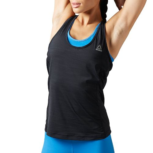 Womens Reebok Running Essentials ACTIVCHill Tank Unlined Technical Tops - Black XS