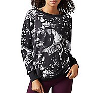Womens Reebok Studio Favorites Midnight Ink Crewneck Long Sleeve Non-Technical Tops