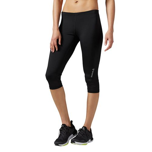 Womens Reebok Running Essentials Capri Tights & Leggings Pants - Black XS