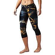 Womens Reebok Running Essentials Printed Capri Tights & Leggings Pants