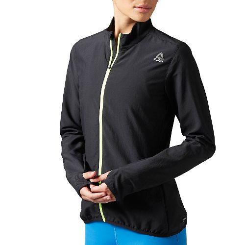 Womens Reebok Running Essentials Woven Running Jackets - Black M
