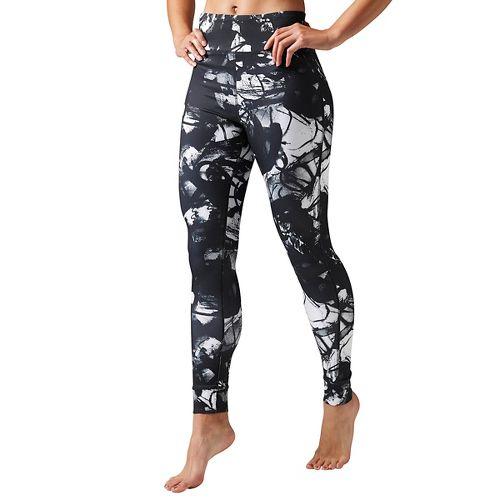 Womens Reebok Studio Favorites Midnight Ink Tights & Leggings Pants - Black L