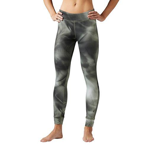 Womens Reebok Techtural Tights & Leggings Pants - Hunter Green M